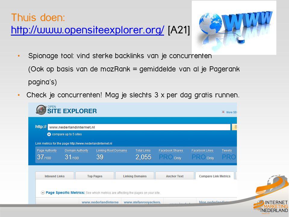 Thuis doen: http://www.opensiteexplorer.org/ [A21]